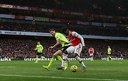 Bukayo Saka of Arsenal  cant find a way through - Mandatory by-line: Arron Gent/JMP - 18/01/2020 - FOOTBALL - Emirates Stadium - London, England - Arsenal v Sheffield United - Premier League