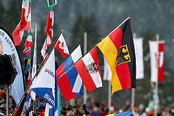 10.12.2011, Biathlonzentrum, Hochfilzen, AUT, E.ON IBU Weltcup, 2. Biathlon, Hochfilzen, Verfolgung Herren, im Bild fahnen deutsch oestereich // during E.ON IBU World Cup 2th Biathlon, Hochfilzen, Austria on 2011/12/10. EXPA Pictures © 2011. EXPA Pictures © 2011, PhotoCredit: EXPA/ nph/ Straubmeier..***** ATTENTION - OUT OF GER, CRO *****