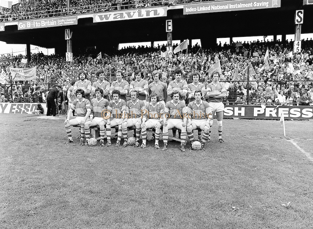The Roscommon team before the start of the All Ireland Senior Gaelic Football Semi Final Replay Roscommon v Armagh in Croke Park on the 28th August 1977. Armagh 0-15 Roscommon 0-14.