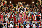 Oshie Hagoita display during the new year celebrations Tokyo Japan
