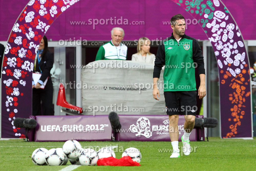 09.06.2012, Stadion Miejski, Poznan, POL, UEFA EURO 2012, Irland, Training, im Bild ROBBIE KEANE // during the during EURO 2012 Trainingssession of Ireland Nationalteam, at the stadium Miejski, Poznan, Poland on 2012/06/09. EXPA Pictures © 2012, PhotoCredit: EXPA/ Newspix/ Jakub Piasecki..***** ATTENTION - for AUT, SLO, CRO, SRB, SUI and SWE only *****