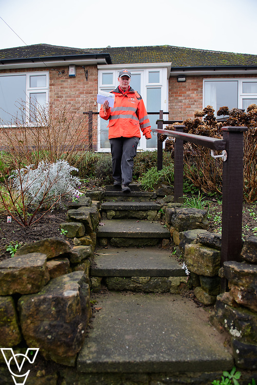Royal Mail - Beeston Delivery Office - Postman Helen Sladen on a delivery round.<br /> <br /> Picture: Chris Vaughan Photography<br /> Date: January 30, 2017