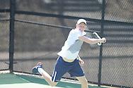 Ole Miss' Johan Backström vs. Baylor at the Palmer/Salloum Tennis Center in Oxford, Miss. on Thursday, March 14, 2013.