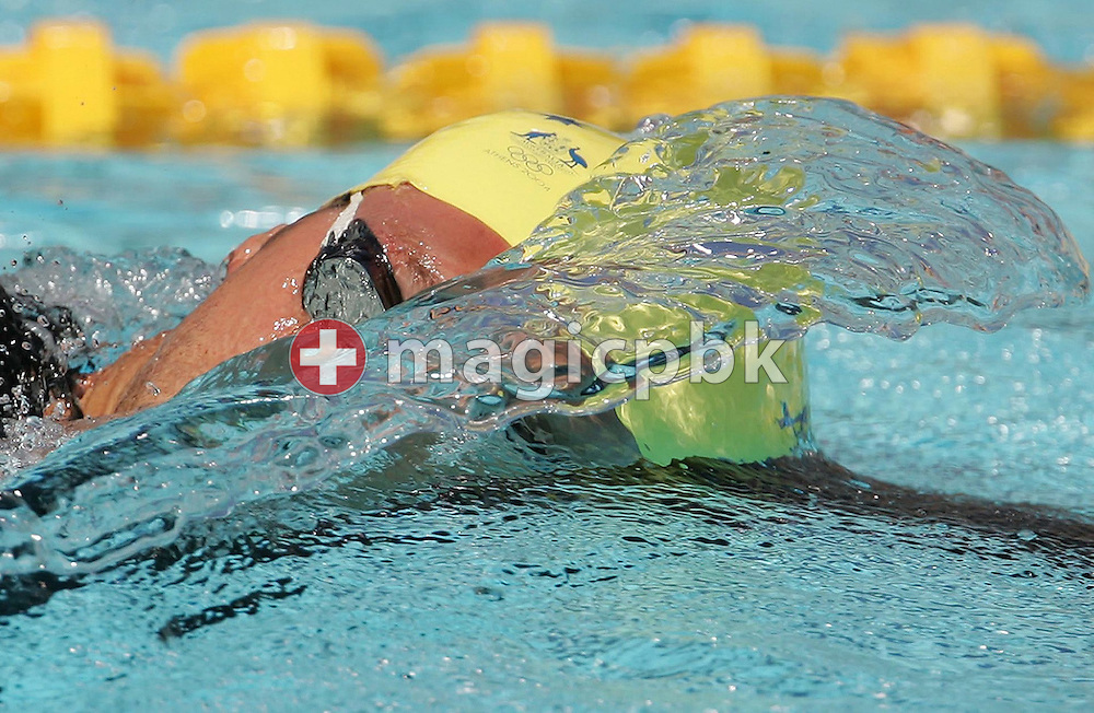 Australian swimmer Ian Thorpe crawls his qualifying heat of the men's 400m freestyle at the Athens Olympic Aquatic Centre Saturday 14 August 2004.  (Photo by Patrick B. Kraemer / MAGICPBK)