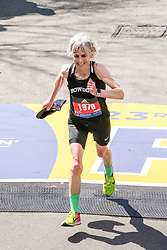 Boston Marathon<br /> Joan Benoit Samuelson finishes the Boston Marathon