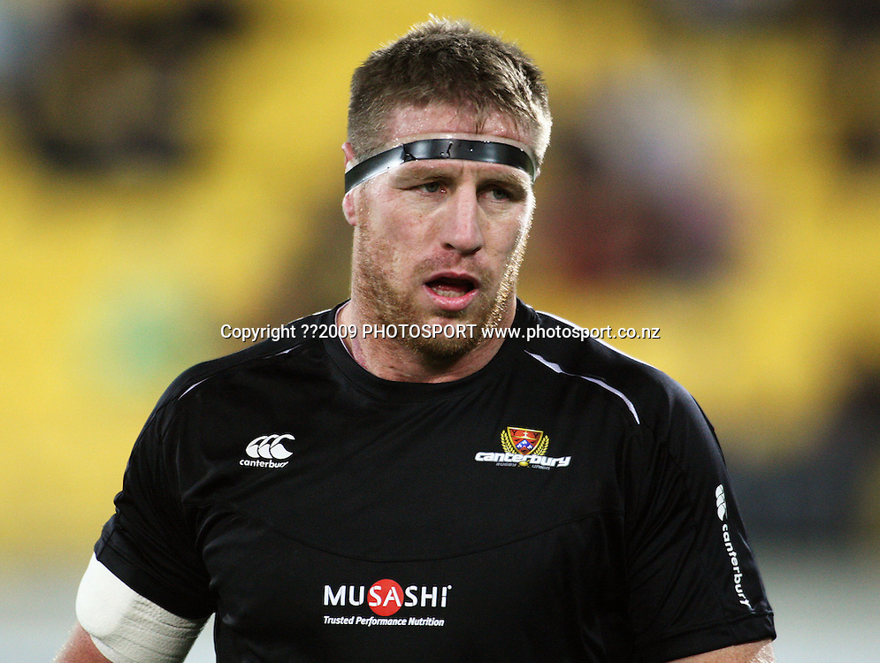 Canterbury's Brad Thorn warms up.<br /> Air NZ Cup Ranfurly Shield match - Wellington Lions v Canterbury at Westpac Stadium, Wellington, New Zealand. Saturday, 29 August 2009. Photo: Dave Lintott/PHOTOSPORT