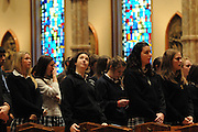 "Catholic high schools from the dioceses of Chicago, Rockford and Joliet are gathered for a mass at Holy Name Cathedral to focus on promoting service leadership in the church under the theme ""A Call To Serve""."