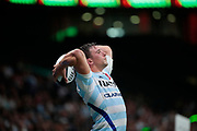 Camille CHAT (Racing 92) at line out during the French championship Top 14 Rugby Union match between Racing 92 and SU Agen on September 8, 2018 at U Arena in Nanterre, France - Photo Stephane Allaman / ProSportsImages / DPPI
