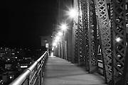 Broadway Bridge at night
