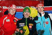 GEPA-2701075744 - OBERSTDORF,DEUTSCHLAND,27.JAN.07 - SKI NORDISCH, SKISPRINGEN - FIS Weltcup Skispringen, Siegerehrung. Bild zeigt Thomas Morgenstern (AUT), Adam Malysz (POL) und Michael Uhrmann (GER). Foto: GEPA pictures/ Claudia Stadelmann..FOT. GEPA / WROFOTO..*** POLAND ONLY !!! ***..*** NO INTERNET/MOBILE USAGE !!! ***