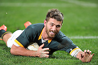 CAPE TOWN, SOUTH AFRICA - Saturday 11 July 2015, Willie le Roux of South Africa during the rugby test match between South Africa (Springboks) and the Word XV at Newlands Rugby stadium.<br /> Photo by Luigi Bennett / ImageSA