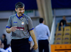 Referee Roman Kolar at third finals basketball match of Slovenian Men UPC League between KK Union Olimpija and KK Helios Domzale, on June 2, 2009, in Arena Tivoli, Ljubljana, Slovenia. Union Olimpija won 69:58 and became Slovenian National Champion for the season 2008/2009. (Photo by Vid Ponikvar / Sportida)