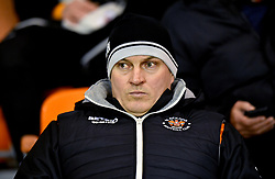 Blackpool Manager Terry McPhillips in the stands during the Emirates FA Cup, third round match at Bloomfield Road, Blackpool.