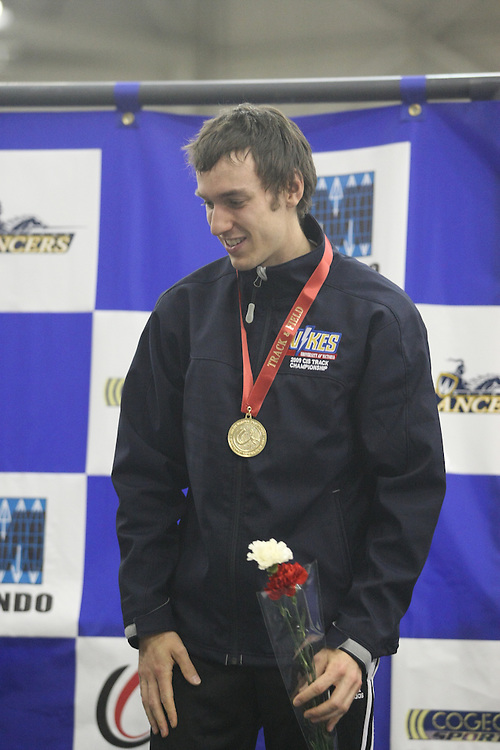 (Windsor, ON---14/03/2009) Geoff Martinson of the University of Victoria won the bronze medal in the CIS Track and Field Championship 1500m with a time of 3:47.84. Photo copyright Sean Burges Mundo Sport Images.