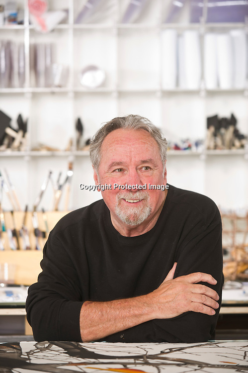 Arkansas artist George Dombek in his studio in Goshen, Ark.