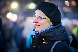 """25 November 2017, Stockholm, Sweden: """"Stop deporting people to a country that isn't safe"""", was the message as hundreds of people from all walks of life gathered at Medborgarplatsen in central Stockholm, to highlight Sweden's Refugee Day, and the way Swedish authorities keep persisting in deporting young people to Afghanistan. The event marked two years since November 2015, when Swedish government officials took a turn towards stricter policies for granting refugee status to asylum seekers, and so a range of civil society organizations, including faith-based organizations, now take a stand for more humane refugee policies."""