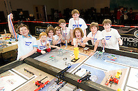 Termin8tors Dylan Whelan, Cian Roche, Emett Geoghegan, Dainiel Geoghegan, Kevin McAndrew Micheal McAndrew, Pearse Geoghegan Eoin O Reilly and Darragh Coughlan from County Galway who were triumphant  in the Radisson blu hotel in Galway at the weekend as they were named Irish champions at the FIRST LEGO League 2012, sponsored by SAP. The theme for this year's competition was food safety, and the team beat off hot competition from 23 other teams from all over the country - all vying for a place in the European finals which will take place in Germany in June. Photo:Andrew Downes.