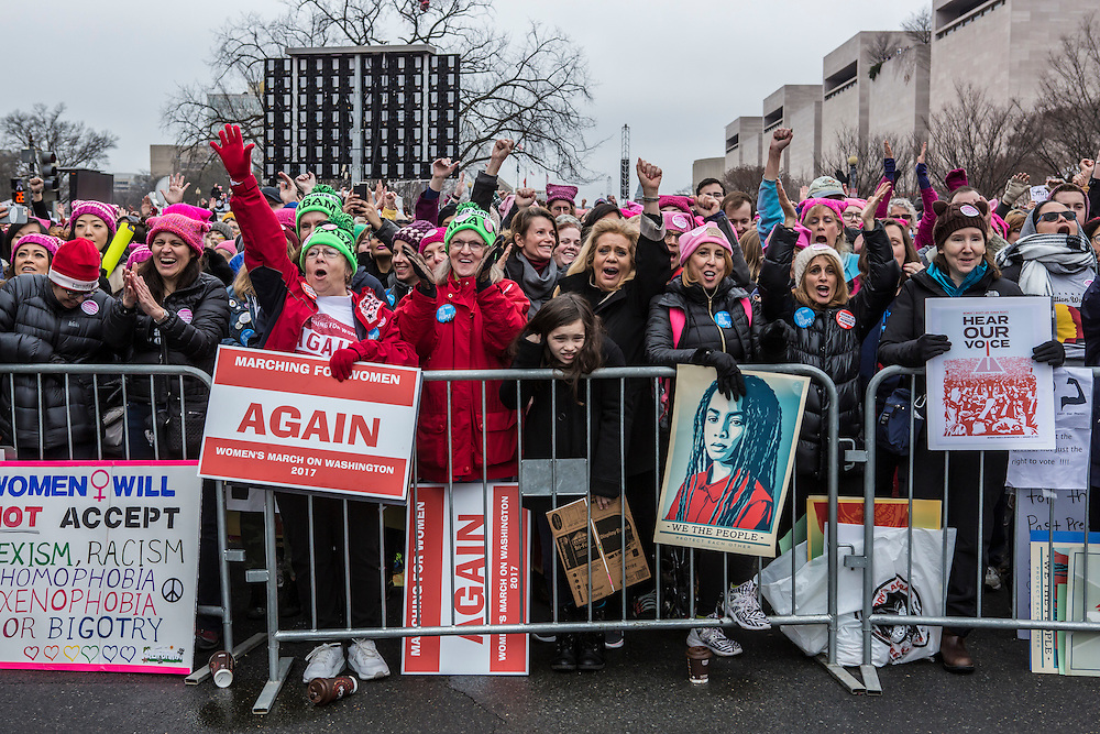 Participants in the Women's March on Washington on the National Mall on Saturday, January 21, 2017 in Washington, DC.