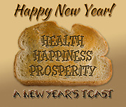 New Year greeting, graphic panel, abstract, toast to the new year, health, happy, prosperity