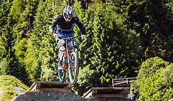 07.06.2016, Bikepark, Leogang, AUT, OeSV, Ski Alpin, Trainingslehrgang Mountainbike, im Bild Georg Streitberger während eines Mountainbike Grundkurses der ÖSV Abfahrer // during a mountain Basic training of the Austrian Ski Alpine downhill team at the Bikepark, Leogang, Austria on 2016/06/07. EXPA Pictures © 2016, PhotoCredit: EXPA/ JFK