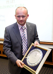 Award Plaketa NZS for year 2009 of Slovenian football federation (NZS) for 75 Years of NK Drava Ptuj, on May 7, 2009, in Hotel Kokra, Brdo at Kranj, Slovenia.  (Photo by Vid Ponikvar / Sportida)