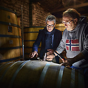 Lead buyer Dominique Metoyer at Martell Cognac, the region's oldest great house, meets with grower Joel Antier at the grower's distillery. Martell works with 1,200 suppliers across the Cognac region and supplies its luxury spirits around the world, especially in the USA and China.In 1715, Jean Martell, a young merchant originally from Jersey, created his own trading business at Gatebourse in Cognac, on the banks of the Charente River, and thus founded one of the very first cognac houses. Martell used grapes from the vineyards in the Borderies subregion, and used Tronçais oak for its casks, this made a combination that resulted in an exceptionally smooth cognac.