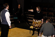 (from left) Danny Lipps, Jane McBride, Wendi Williams and Timothy Behnken during a dress rehearsal of Frank's Life at the Dayton Theatre Guild, Thursday, August 26, 2010.