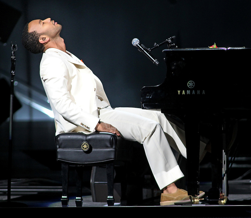 (070611  Boston, MA) John Legend opens for Sade  at the TD Garden, Wednesday,  July 06, 2011.  Staff photo by Angela Rowlings.