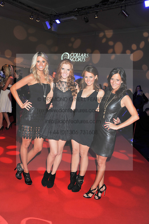 Electronic string quartet ESCALA Chantal Leverton, Victoria Lyon, Izzy Johnston and Tasya Hodges at the annual Collars & Coats Gala Ball in aid of Battersea Dogs & Cats Home held at Battersea Evolution, Battersea Park, London on 11th November 2011.