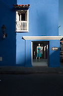 A clothing store in the historic center of Cartagena de Indias
