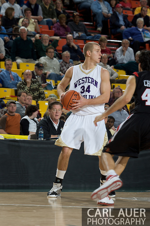 November 27, 2008: Western Carolina forward Blake Gallagher (34) in the final game in the opening round of the 2008 Great Alaska Shootout at the Sullivan Arena