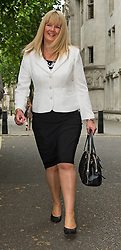 © Licensed to London News Pictures. 08/06/2015. London, UK. ALISON SHARLAND leaving the supreme court together,  where a Supreme Court justice heard the latest round of a multi-million pound divorce cases.  . Photo credit: Ben Cawthra/LNP