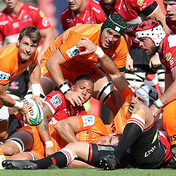 Gonzalo Bertanou of the Jaguares during the Super Rugby match between the Emirates Lions and the Jaguares at the Emirates Airlines Park, South Africa. 24 February 2018 (Photo by Steve Haag Jaguares)