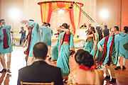 Baltimore, Maryland - December 20, 2014: Trisha Satya Pasricha and Eshwan Ramudu's wedding party perform a Bollywood dance number, choreographed by Trisha. <br /> <br /> The couple, who met at Harvard, during a one of Trisha's student films, were married at the Baltimore Marriott Waterfront Hotel December 20, 2014. <br /> <br /> CREDIT: Matt Roth for The New York Times<br /> Assignment ID: 30168620A