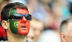 13-06-2012 VOETBAL: UEFA EURO 2012 DAY 6: POLEN OEKRAINE<br /> Support for Portugal during the UEFA EURO 2012 group B match between Denemarken en Portugal at Arena Lwiw, Lemberg, UKR<br /> ***NETHERLANDS ONLY***<br /> ©2012-FotoHoogendoorn.nl
