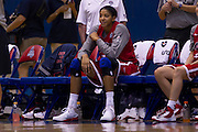 Candace Parker takes a break during the 2012 USA Women's Basketball team practice at Bender Arena  in Washington, DC.  July 15, 2012  (Photo by Mark W. Sutton)