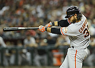 PHOENIX, AZ - JUNE 08:  Brandon Crawford #35 of the San Francisco Giants doubles to deep right against the Arizona Diamondbacks in the second inning at Chase Field on June 8, 2013 in Phoenix, Arizona.  (Photo by Jennifer Stewart/Getty Images) *** Local Caption *** Brandon Crawford