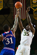 WACO, TX - JANUARY 7: Johnathan Motley #35 of the Baylor Bears shoots the ball against the Kansas Jayhawks on January 7, 2015 at the Ferrell Center in Waco, Texas.  (Photo by Cooper Neill/Getty Images) *** Local Caption *** Johnathan Motley
