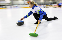 Petra Klemenc during a training session of Team Slovenia Women Curling team for 2013 European Women's Curling Championships in Norway on November 18, 2013 in Arena Zalog, Ljubljana, Slovenia.  Photo by Vid Ponikvar / Sportida