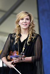 30 April 2015. New Orleans, Louisiana.<br /> The New Orleans Jazz and Heritage Festival. <br />  Alison Krauss plays the Gentilly Stage.<br /> Photo; Charlie Varley/varleypix.com