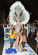 The Krewe of O.A.K.'s 2006 Queen Katrina Brees at Midsummer Mardi Gras at the Maple Leaf