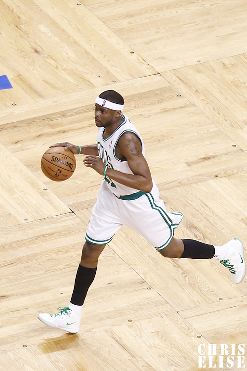 07 June 2012: Boston Celtics point guard Keyon Dooling (51) brings the ball upcourt during first half of Game 6 of the Eastern Conference Finals playoff series, Heat at Celtics at the TD Banknorth Garden, Boston, Massachusetts, USA.