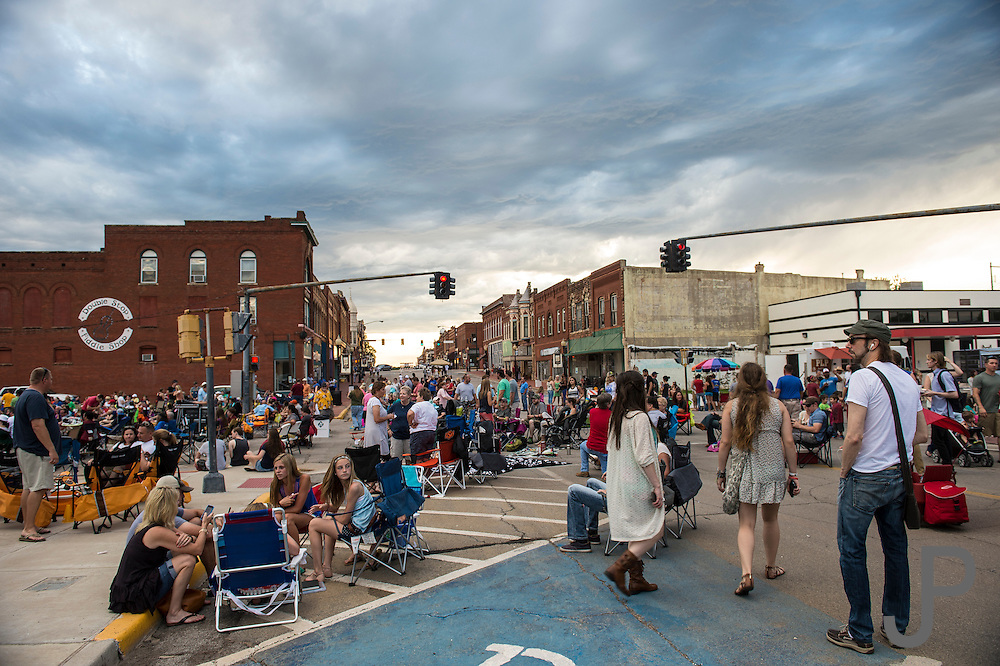 Guthrie block party for Oklahoma Today