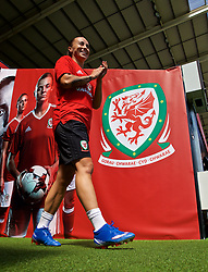 SWANSEA, WALES - Wednesday, June 6, 2018: Wales' Natasha Harding walks out of the players' tunnel before a training session at the Liberty Stadium ahead of the FIFA Women's World Cup 2019 Qualifying Round Group 1 match against Bosnia and Herzegovina. (Pic by David Rawcliffe/Propaganda)