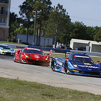 Sebring, FL - Mar 17, 2016:  The IMSA WeatherTech Sportscar Championship teams take to the track for a practice session for the 64th Annual Mobil 1 Twelve Hours of Sebring at Sebring International Raceway in Sebring, FL.