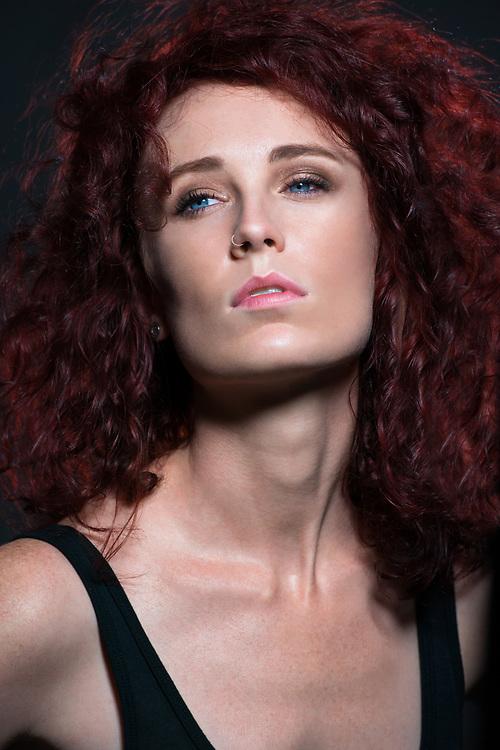 Portrait of a a beautiful redhead.