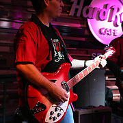 """""""The Consumers"""" featuring Gordy Rawson of Chatter Creek Winery performing at Seattle's 3rd Annual Wine Rocks at the Hard Rock Cafe."""