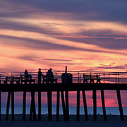 Dawn at the fishing pier, Wildwood Crest, New Jersey, USA