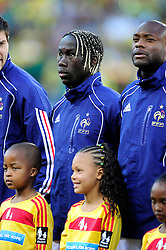 Bacary Sagna and William Gallas line up before the 2010 World Cup Soccer match between South Africa and France played at the Freestate Stadium in Bloemfontein South Africa on 22 June 2010.
