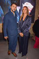 Conrad Shawcross and Carolina Mazzolari at a VIP private view of 21st Century Women held at Unit London, Hanover Square, London England. 03 October 2018.